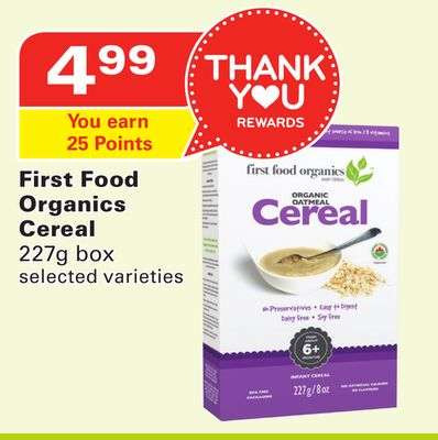 First Food Organics Cereal