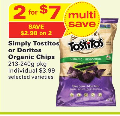 Simply Tostitos or Doritos Organic Chips
