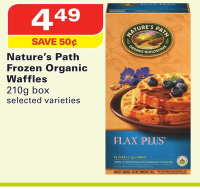 Nature's Path Frozen Organic Waffles