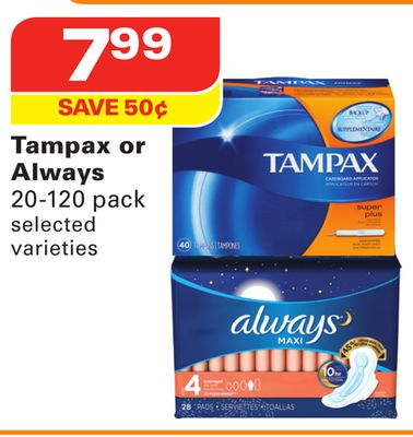 Tampax or Always