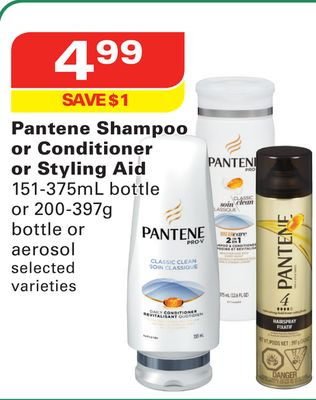 Pantene Shampoo or Conditioner or Styling Aid