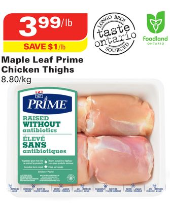 Maple Leaf Prime Chicken Thighs