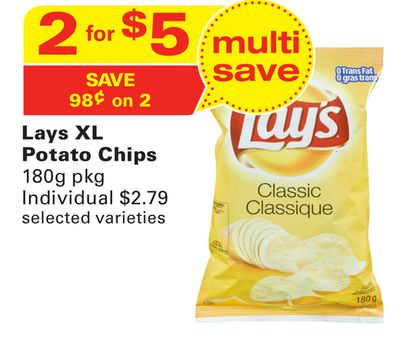Lays Xl Potato Chips