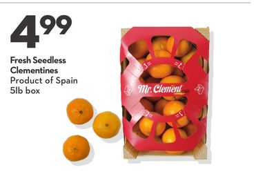 Fresh Seedless Clementines