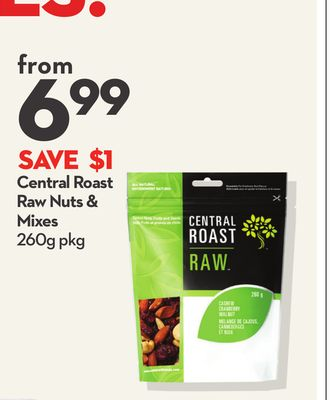 Central Roast Raw Nuts & Mixes
