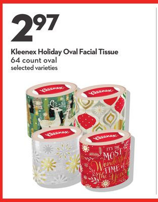 Kleenex Holiday Oval Facial Tissue