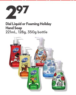 Dial Liquid or Foaming Holiday Hand Soap
