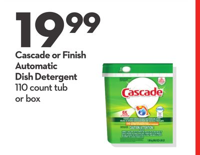 Cascade or Finish Automatic Dish Detergent