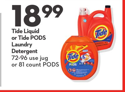 Tide Liquid or Tide PODS Laundry Detergent