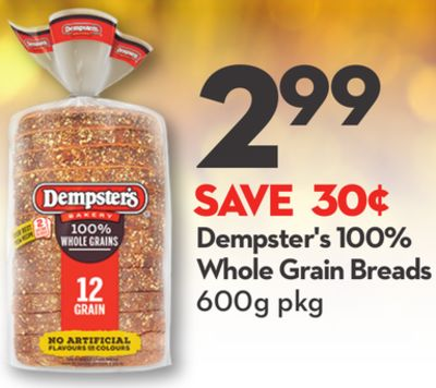 Dempster's 100% Whole Grain Breads