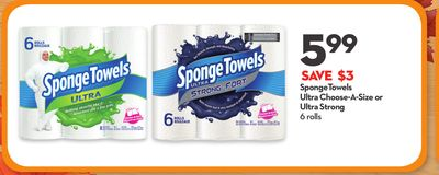 Spongetowels Ultra Choose-a-size or Ultra Strong