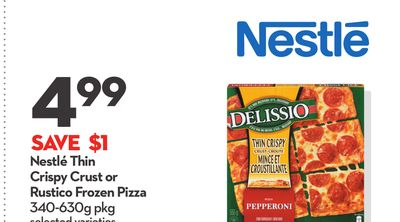 Nestlé Thin Crispy Crust or Rustico Frozen Pizza