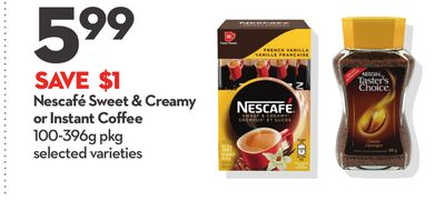 Nescafé Sweet & Creamy or Instant Coffee