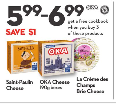 Saint-paulin Cheese - Oka Cheese 190g Boxes - La Crème Des Champs Brie Cheese