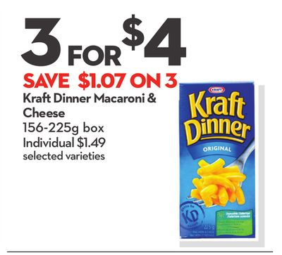 Kraft Dinner Macaroni & Cheese
