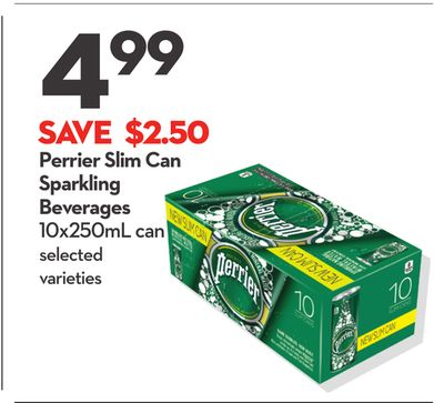 Perrier Slim Can Sparkling Beverages