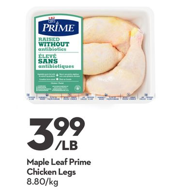 Maple Leaf Prime Chicken Legs