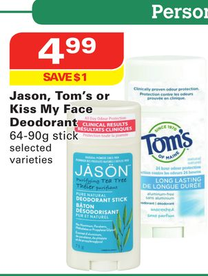 Jason - Tom's or Kiss My Face Deodorant