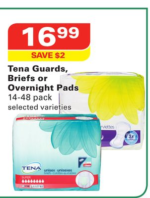 Tena Guards - Briefs or Overnight Pads