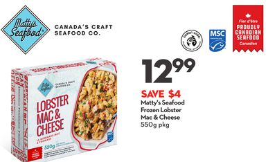 Matty's Seafood Frozen Lobster Mac & Cheese