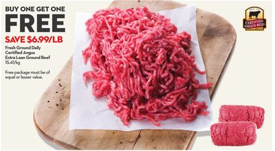 Fresh Ground Daily Certified Angus Beef Extra Lean Ground Beef
