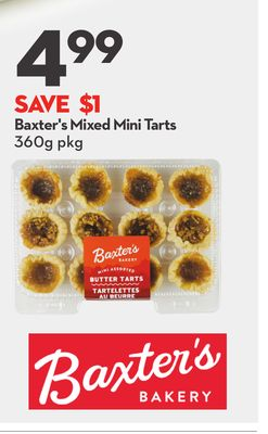 Baxter's Mixed Mini Tarts