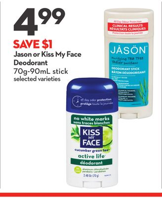 Jason or Kiss My Face Deodorant