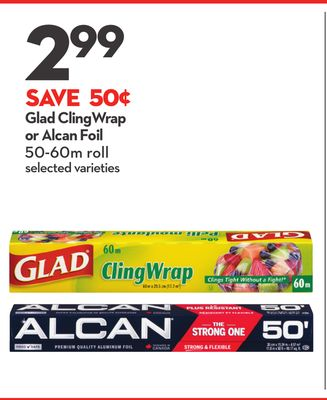Glad Cling Wrap or Alcan Foil