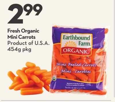 Fresh Organic Mini Carrots