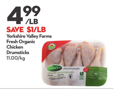 Yorkshire Valley Farms Fresh Organic Chicken Drumsticks