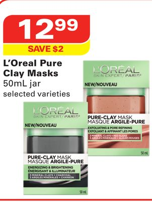 L'Oreal Pure Clay Masks