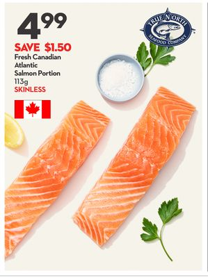 Fresh Canadian Atlantic Salmon Portion