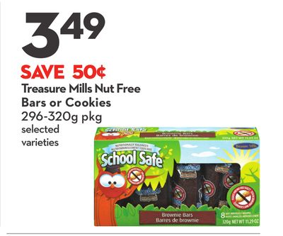 Treasure Mills Nut Free Bars or Cookies