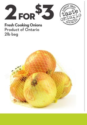 Fresh Cooking Onions