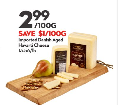 Imported Danish Aged Havarti Cheese