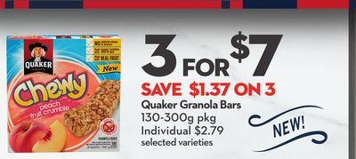 Quaker Granola Bars