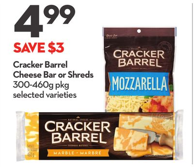 Cracker Barrel Cheese Bar or Shreds
