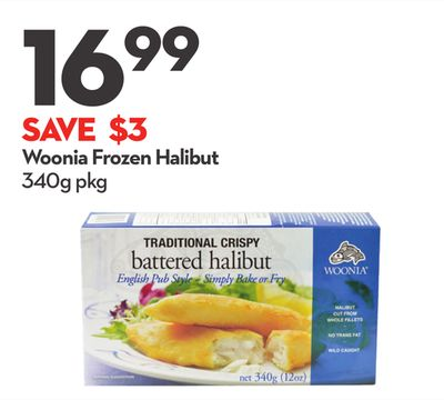 Woonia Frozen Halibut