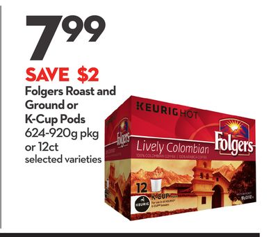 Folgers Roast and Ground or K-cup Pods