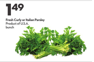 Fresh Curly or Italian Parsley