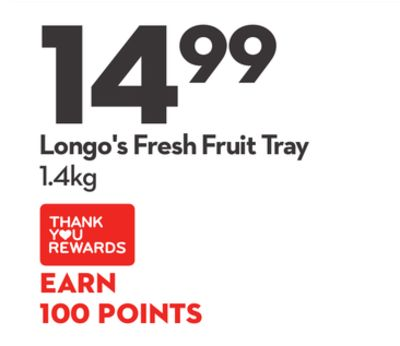 Longo's Fresh Fruit Tray