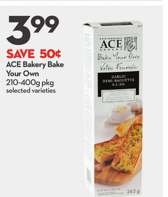 Ace Bakery Bake Your Own