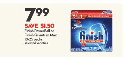 Finish Powerball or Finish Quantum Max