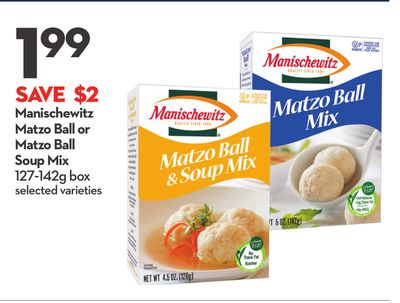 Manischewitz Matzo Ball or Matzo Ball Soup Mix