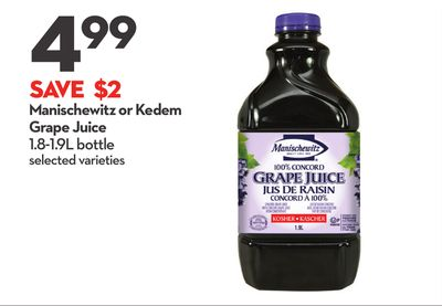 Manischewitz or Kedem Grape Juice