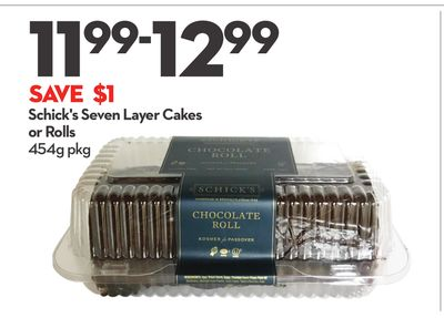 Schick's Seven Layer Cakes or Rolls