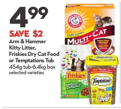 Arm & Hammer Kitty Litter - Friskies Dry Cat Food or Temptations Tub
