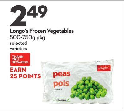 Longo's Frozen Vegetables