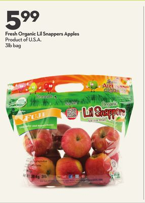 Fresh Organic Lil Snappers Apples