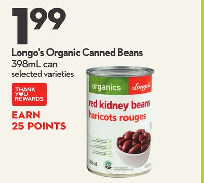 Longo's Organic Canned Beans
